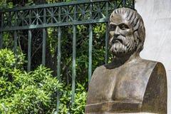 Byst av den tragiska poeten Euripides royaltyfri fotografi