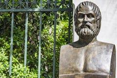 Byst av den tragiska poeten Euripides arkivfoto