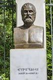 Byst av den tragiska poeten Euripides arkivbild