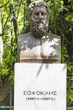 Byst av den tragiska poeten Sophocles arkivbild