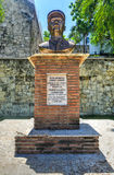 Byst av Francisco Alberto Caamano Deno, Santo Domingo, dominikan Arkivfoton