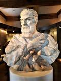 Byst av Galileo på Galileo Museum i Florence royaltyfria bilder