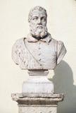 Byst av Joao de Barros i saoen Pedro de Alcantara Garden Lis Arkivbilder