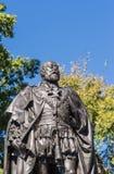 Byst av statyn av konungen Edward VII i Hobart, Australien Arkivbild