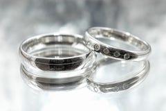 bystre pierścienie się tło białe Obrazy Stock