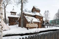 Bystrinsky Etnografisch Museum Esso-Dorp, Kamchatka Peninsul Royalty-vrije Stock Afbeeldingen