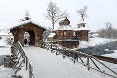 Bystrinsky Etnografisch Museum Esso-Dorp, Kamchatsky Krai Stock Foto's