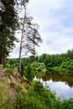 Bystritsa river Stock Image
