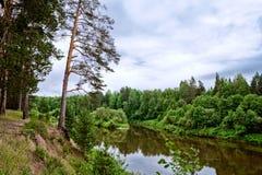 Bystritsa river Royalty Free Stock Images