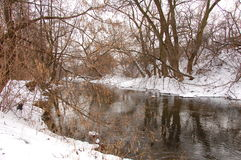 Bystrzyca River view Royalty Free Stock Photos