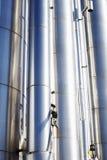 Benzynowe i nafciane drymby i rurociąg Obrazy Stock