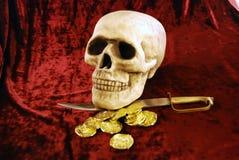 byte piratkopierar skallen Royaltyfri Bild