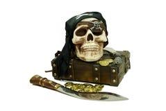 byte piratkopierar skallen Arkivfoto