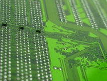 Bytes landscape. Close-up of circuit board Stock Photography