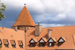 波兰的视域。 城堡Bytow。 免版税库存图片