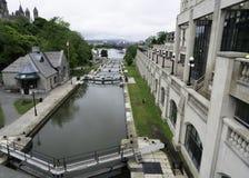 Bytown låser Ottawa Arkivbild