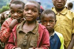 BYUMBA RWANDA, WRZESIEŃ, - 9, 2015: Niezidentyfikowany afrykanów dzieciaki Fotografia Royalty Free