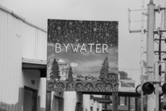 Bywater sign in New Orleans (USA stock photography