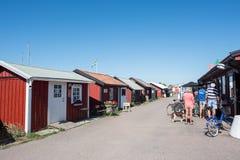 在波罗的海海岛奥兰,瑞典上的Byxelkrok 图库摄影