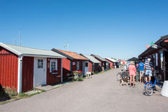 Byxelkrok on Baltic sea island Oland, Sweden Stock Photography