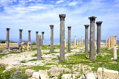 Byzantijns Kerkterras in Umm Qais, Jordanië Royalty-vrije Stock Afbeeldingen