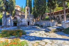 Byzantijns klooster in Kaisariani, Athene Royalty-vrije Stock Foto