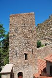 Byzantijns klooster, Tilos stock fotografie