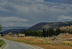 Byzantijnse ru?nes tussen aard royalty-vrije stock fotografie