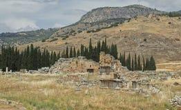 Byzantijnse ru?nes tussen aard royalty-vrije stock afbeelding