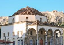 Byzantijnse steentempel in Athene Stock Foto's