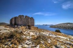 Byzantijnse toren op bovenkant Royalty-vrije Stock Afbeeldingen