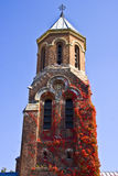 Byzantine architecture. Tower of orthodox monastery, example of Byzantine architecture Royalty Free Stock Images