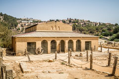 Byzantine basilica in the Biblical Shiloh, Israel. Byzantine basilica in the archaeological park of the Biblical Shiloh in Samaria, Israel Royalty Free Stock Photos