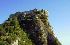 Byzantine castle on Corfu island Royalty Free Stock Image