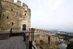 Byzantine castle in Greece Stock Photo