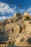 Byzantine castle in Kalekoy village, built over ancient Simena Royalty Free Stock Image
