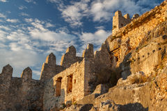Byzantine castle in Kalekoy village Stock Image