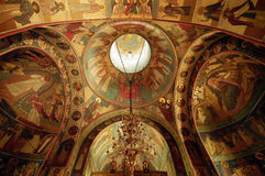 Byzantine ceiling in Rimet Royalty Free Stock Photo