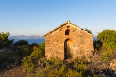 Byzantine chapel at Methana Royalty Free Stock Photo