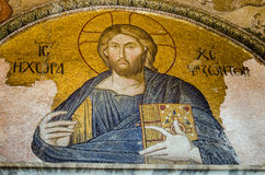 Byzantine Christ Pantocrator mosaic Stock Photos
