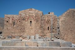 Byzantine church - Acropolis Royalty Free Stock Images