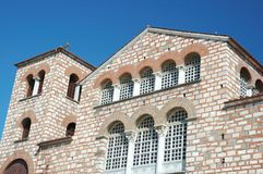 Byzantine church of Aghios Demetrios,Thessaloniki Royalty Free Stock Photo