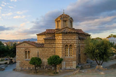 Byzantine church in Athens Stock Photography