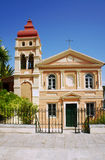Byzantine church in Corfu town Stock Photos