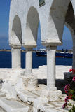 Byzantine church detail - Paros Island, Greece Stock Image
