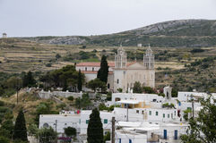 Byzantine church greek islands paros Stock Images
