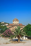 Byzantine Church the Holy Apostles of Solakis. In Ancient Agora, Athens, Greece Stock Image