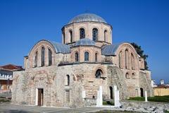 Byzantine church of Kosmosotira, Feres, Greece. 10th century byzantine church of Panagia Kosmosotira at Feres, Evros, Greece stock photo