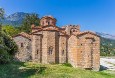 Byzantine church in medieval city of Mystras Royalty Free Stock Images