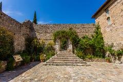 Byzantine church in medieval city of Mystras Stock Photos
